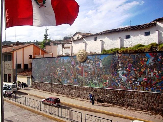 Uno de los murales más grandes de América del Sur se encuentra en Cusco
